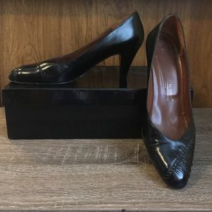 Pair if Evan Picone Women's All Leather Heels